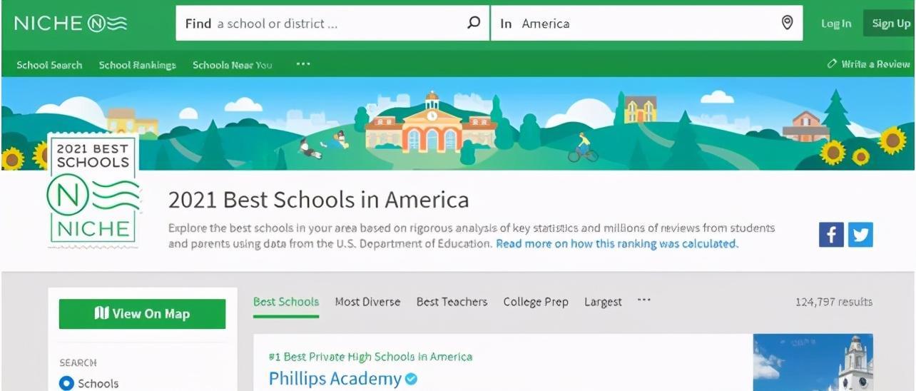 Z新!2021NICHE全美排名TOP100私立高中排行榜单汇总!